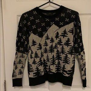 J. Crew winter scene sweater